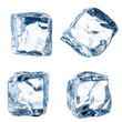 Cubes of ice on a white background. File contains the path to cu - 52445702