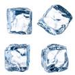Leinwandbild Motiv Cubes of ice on a white background. File contains the path to cu