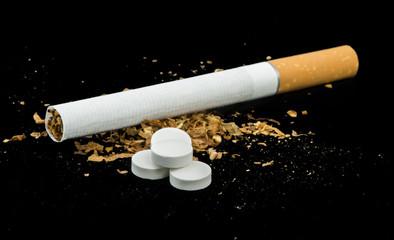 Cigarette, tobacco and pills