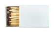 White isolated matches and matchsticks