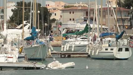 Marina in Porto Colom, Mallorca