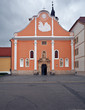 catholic church in Varazdin. Croatia.