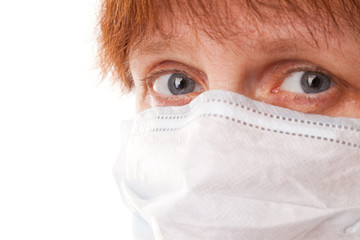 Women in surgical mask