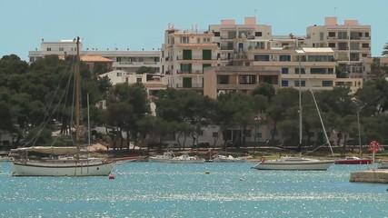 Ankernde Yachten, Mallorca
