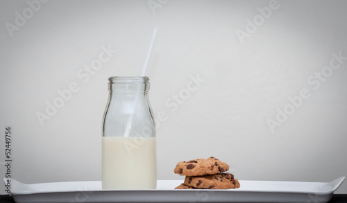Milk and cookies vintage style