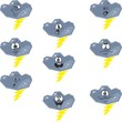 Weather cartoon flash cloud set 007