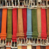 colorful suede trouser belts display