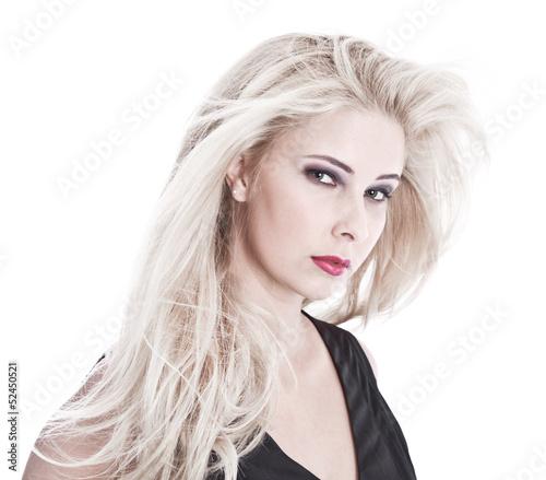 Gesicht isoliert einer schönen blonden Frau