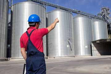 Worker in silo company