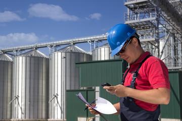 Worker in silo company
