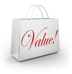 Value Word Shopping Bag Special Deal Savings