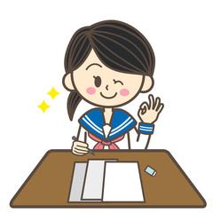 セーラ服の学生 テスト グッド