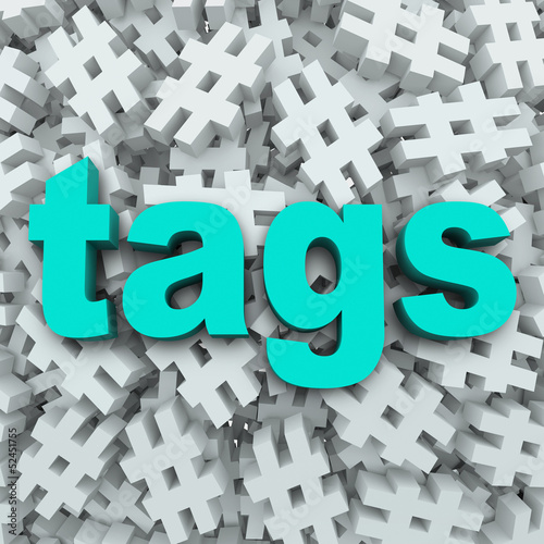 Tags Hashtag Symbol Message Update Background