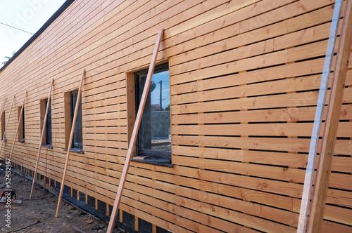 Poster Maison bois éco-construction