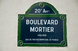 Boulevard Mortier à Paris poster