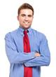 Handsome successful manager portrait