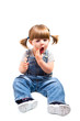bambina con mal di denti
