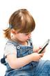 bambina con telefono cellulare