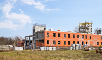 Construction of Academic Building Fire Institute