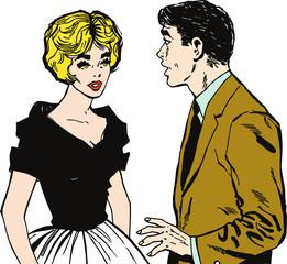 Ilustracion de una pareja de enamorados