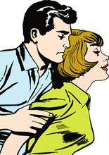 Illustration d'un couple dans l'amour
