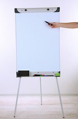 Flipchart in classroom