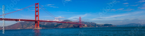 Panoramic View of tGolden Gate Bridge in San Francisco