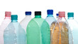 Plastic bottles in different color