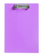 purple clipboard isolated