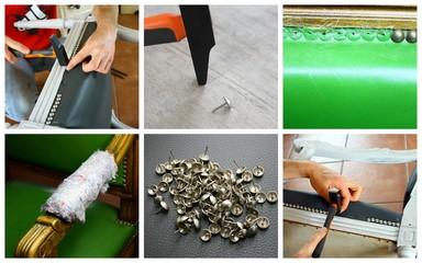 composition de rénovation de fauteuil ancien