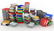 3d illustration of books piles