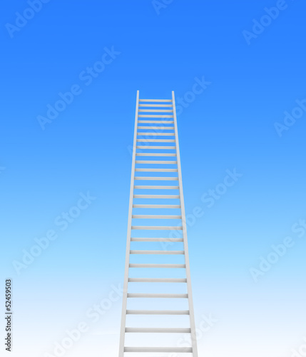 ladder leading to a sky - rendered in 3d