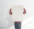 man standing without a face