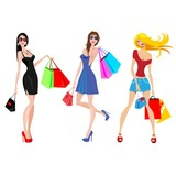 modern shopping women
