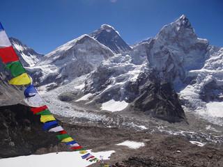 Everest et Nupste vus depuis le Kala Patthar 5554 m, Népal