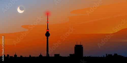 Fototapeten,berlin,stadt,skyline,sonnenuntergang