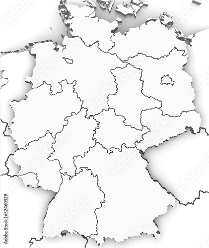 Germany-Deutschland 3d map