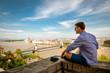 Man watching Budapest