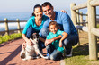 lovely family and pet dog