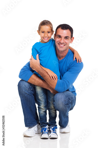 young man with his little daughter