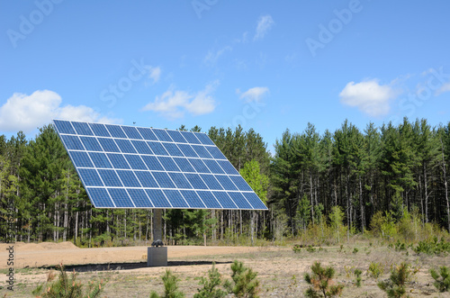 solar panel in rural setting