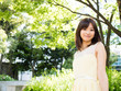 beautiful asian businesswoman in the park