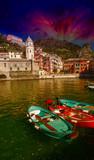 Cinque Terre, Italy. Wonderful scenario in spring season poster