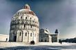 Snow in Piazza dei Miracoli, Pisa