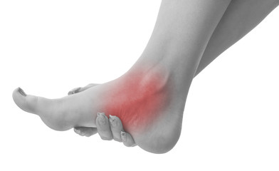 Pain in a woman ankle