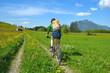 Radfahren, Berge, Wiesen