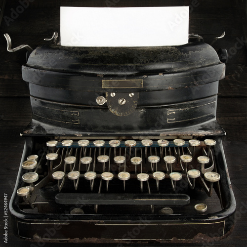 Old antique typewriter with copy space