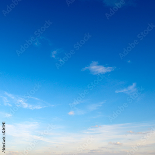 canvas print picture clouds in the blue sky