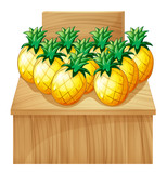 A pineapple fruitstand with an empty board