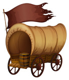 A wooden carriage